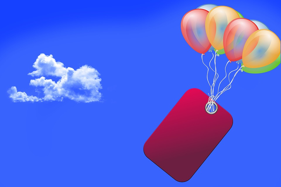 Cloud, Balloon, Shield, Sky, Colorful, Clouds