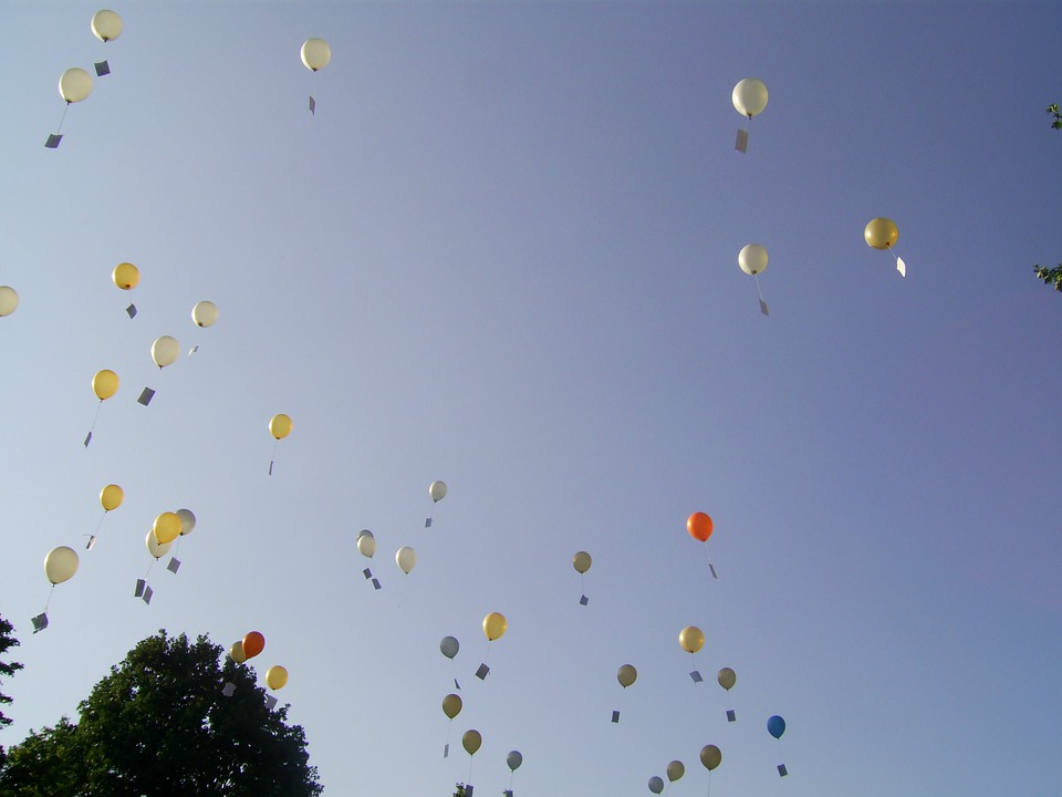 Balloons, Sky, Competition