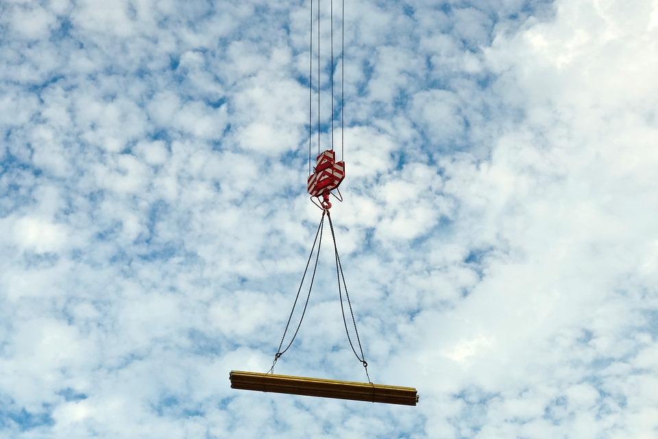 Baukran, Crane, Build, Site, Sky, Crane Arm
