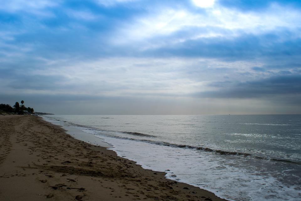 Beach, Dawn, Clouds, Sky, Horizon, Sand, Holiday, Calm