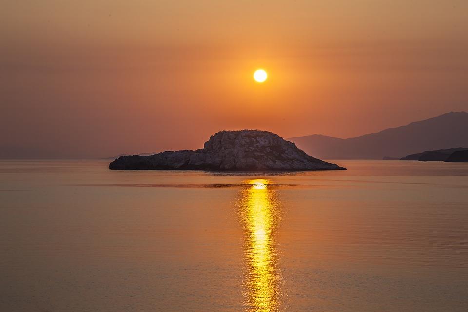 East, Sun, Beach, Sea, Water, Rock, Sky, Island, Lesbos