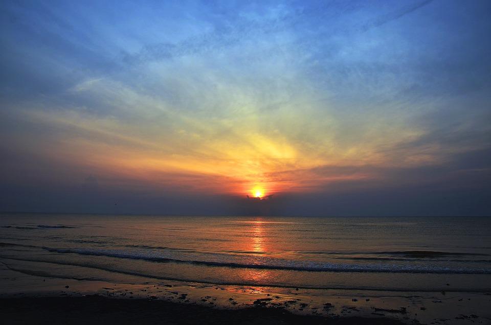 Sunrise, Beach, Sea, Sunset, Beach Sunset, Ocean, Sky