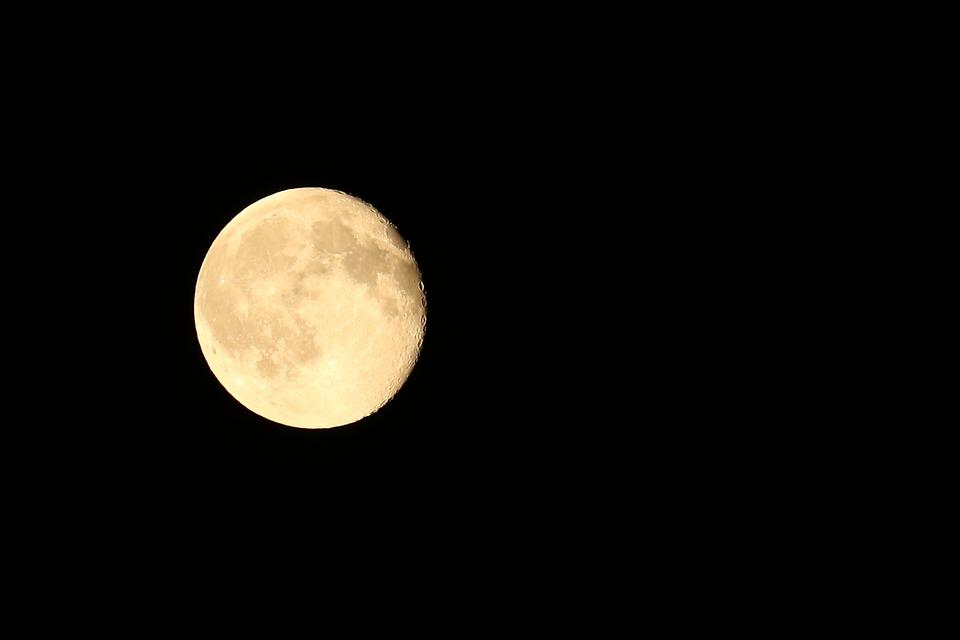 Moon, At Night, Sky, Beautiful, In The Evening, Dark