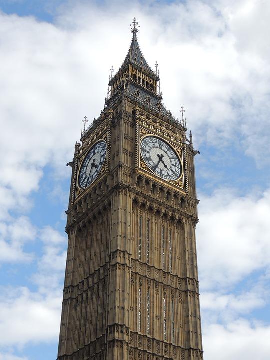 Big Ben, London, Watch, Sky, Architecture, Height