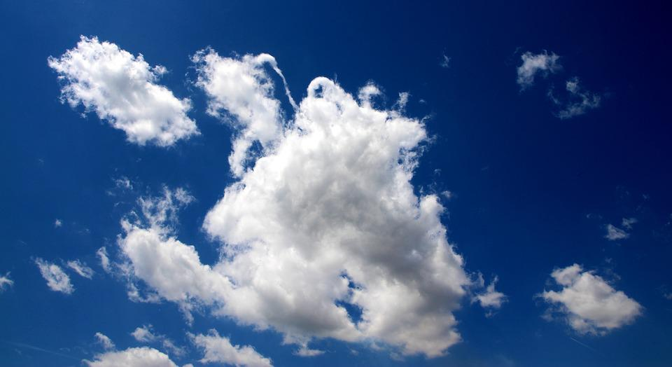 Cloud, Sky, White, Fluffy, Blue