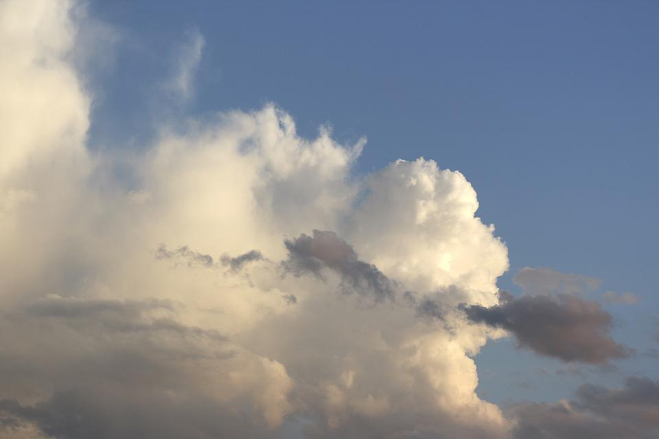 Clouds, White, Grey, Sky, Blue, Clouds Form