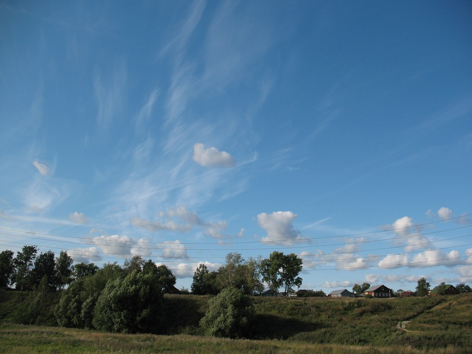 Sky, Clouds, Blue, Landscape, Day, Nature