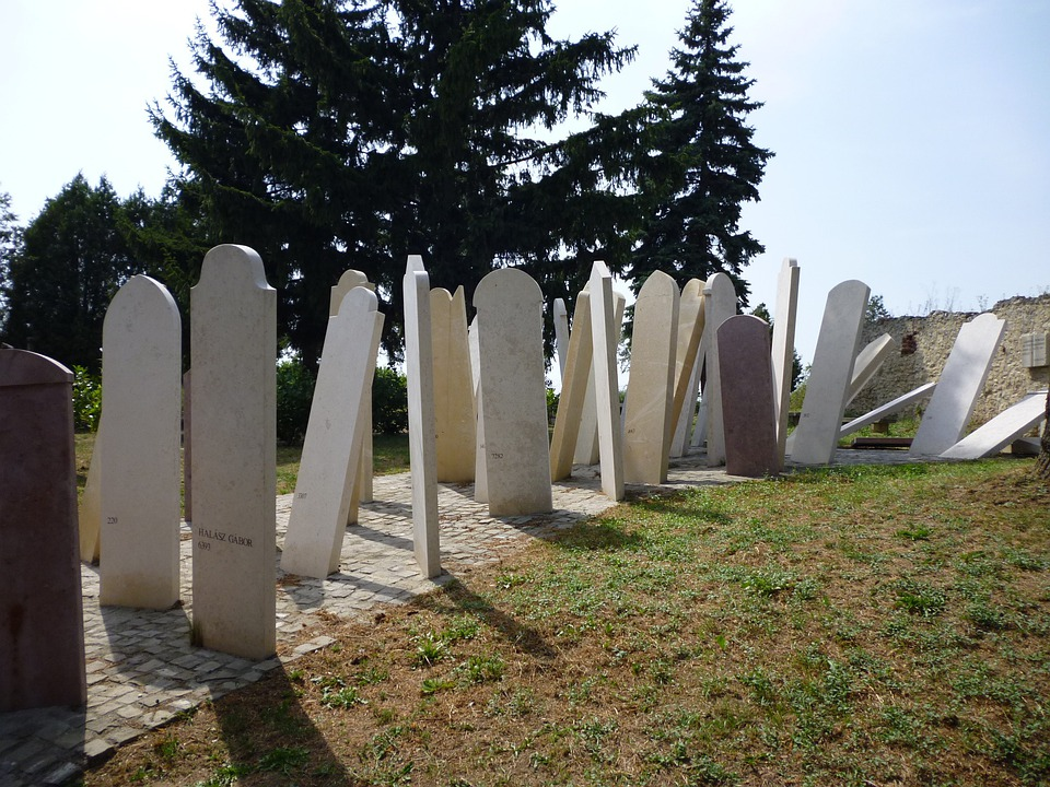 Cemetery, Blue, Sky, Marble