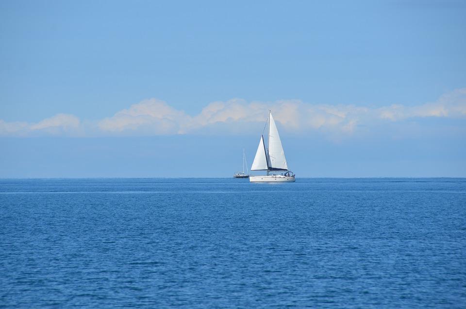 Ocean, Sailboat, Sailing, Sky, Blue, Marine, Water