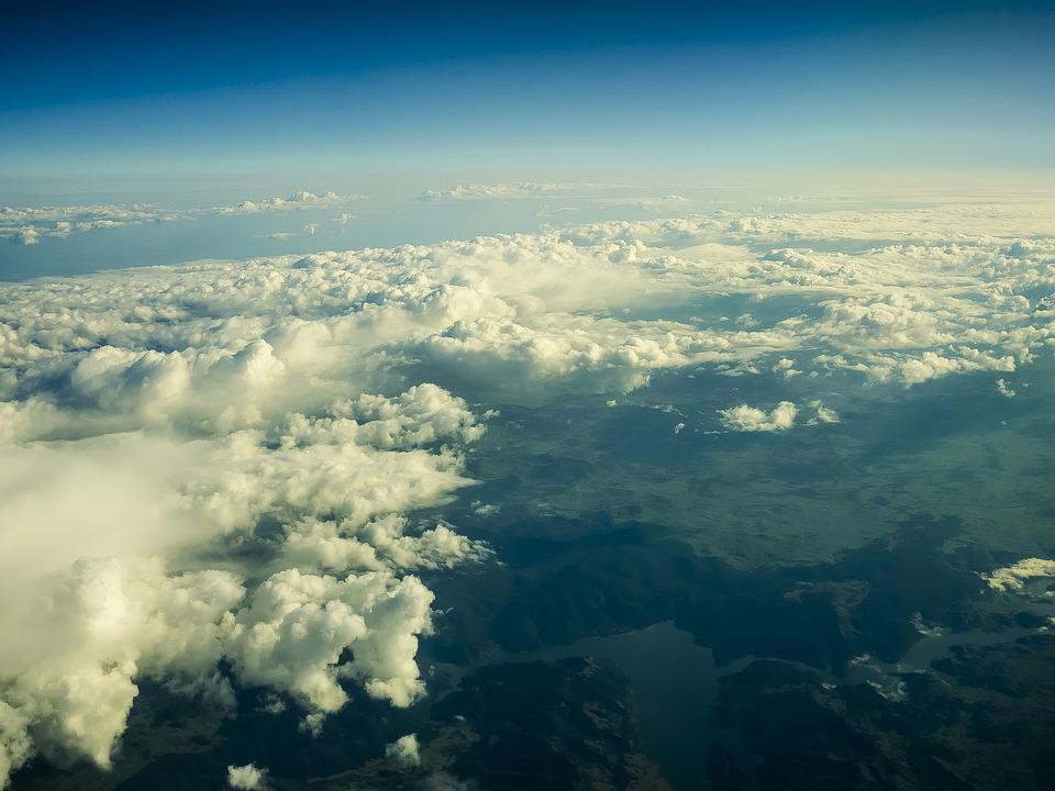 Clouds, Landscape, Aircraft, Sky, Nature, Fly, Blue Sky
