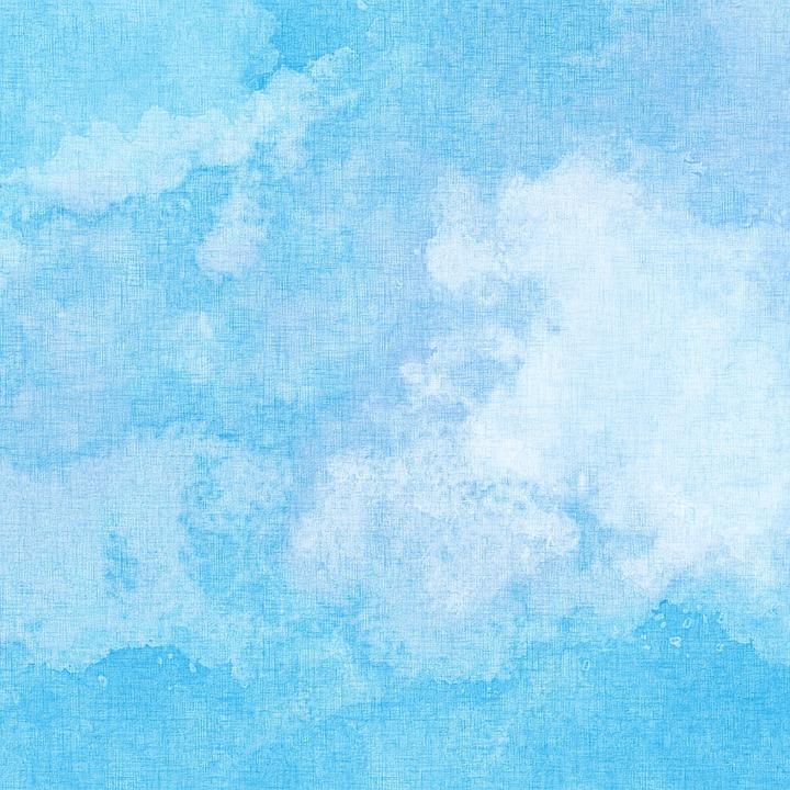 Blue, Sky Blue, Watercolor, Canvas, Paint, Paper, Stain