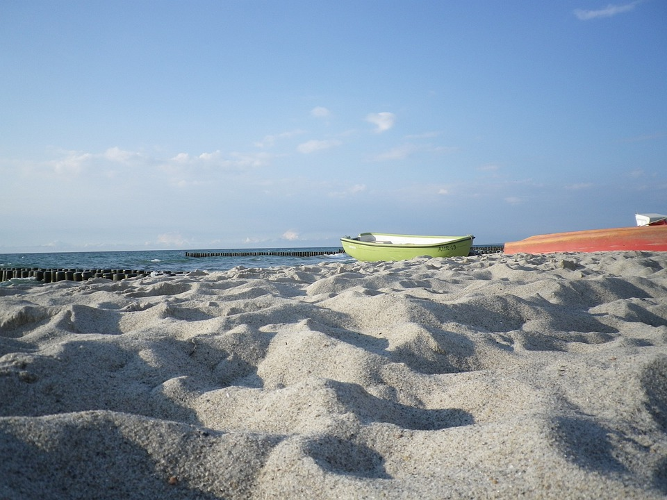 Fishing Boat, Sea, Beach, Baltic Sea, Sky, Boot