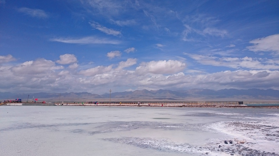 Caka Salt Lake, Qinghai, The Scenery, Sky, Habitat Sky