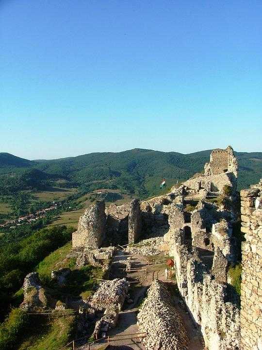 Castle, Castle Ruins, Forest, Sky, Nature, Stones