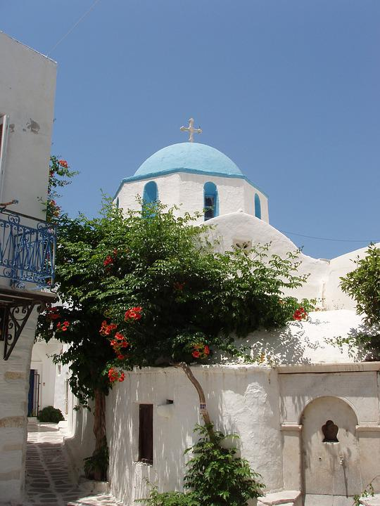 Greece, Cyclades, Island, Sky, Holiday, Travel, Church