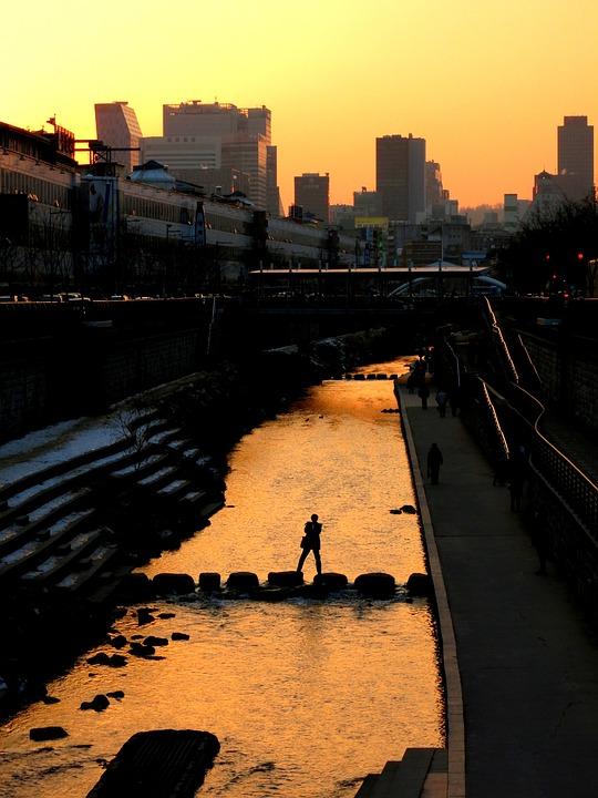 Seoul, Korea, City, Architecture, Sky, Metropolis
