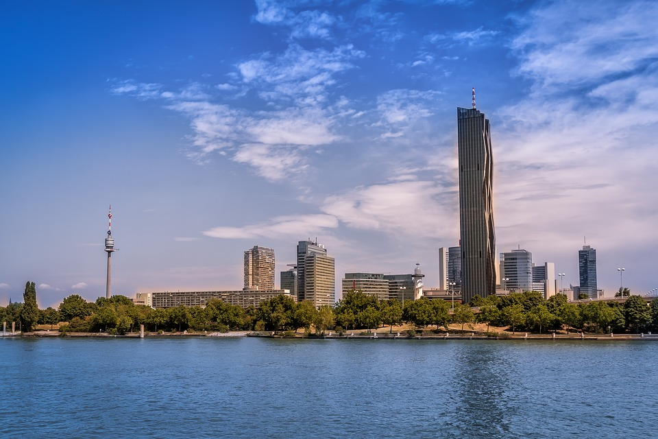 City, Architecture, Waters, Skyline, Panorama, Sky