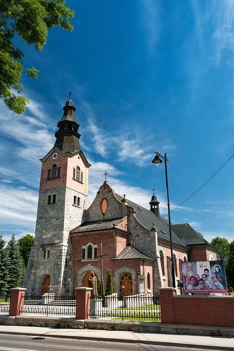 Church, Poland, City, Blue, Sky, Summer