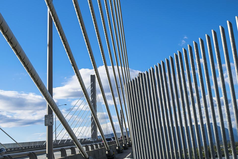 Architecture, Sky, Contemporary, Steel, City, Bridge