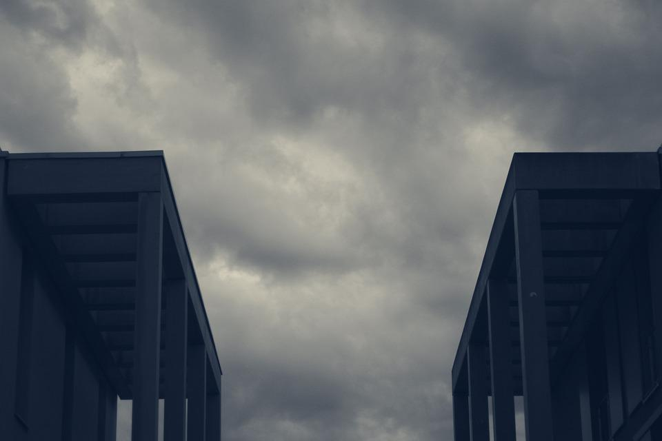 Architecture, Houses, Sky, Clouds, City, Building