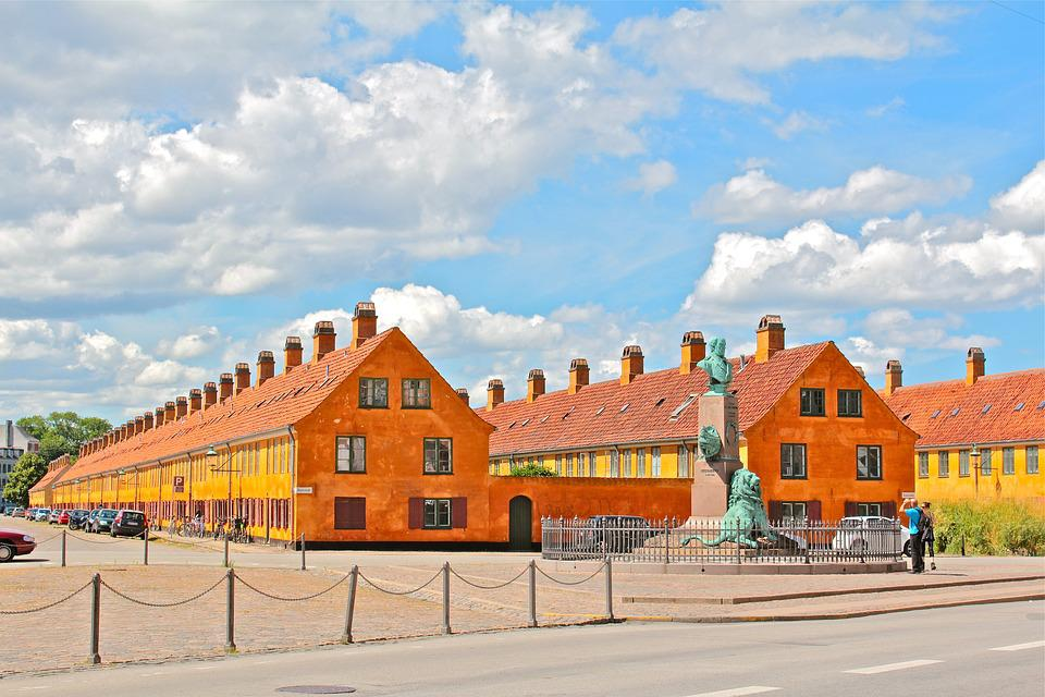 Copenhagen, Denmark, Sky, City, Architecture, Building