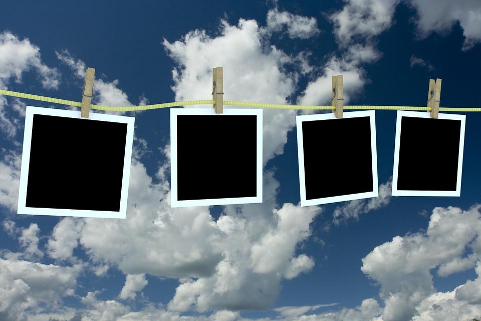 Sky, Polaroid, Clothesline