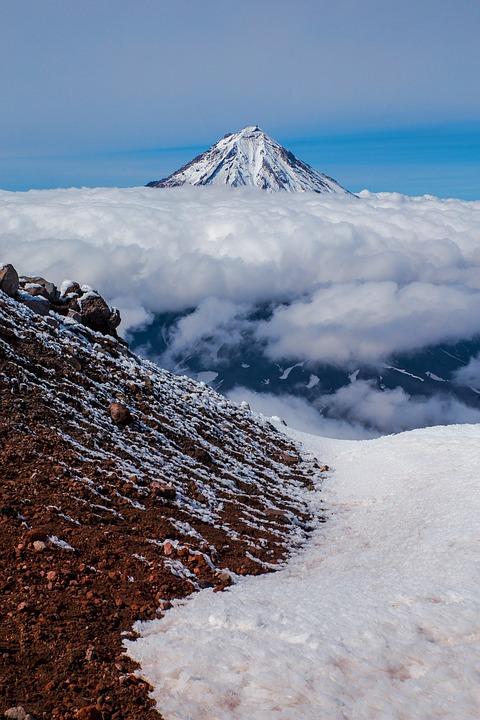 Snow, Mountain, Nature, Sky, Landscape, Volcano, Cloud