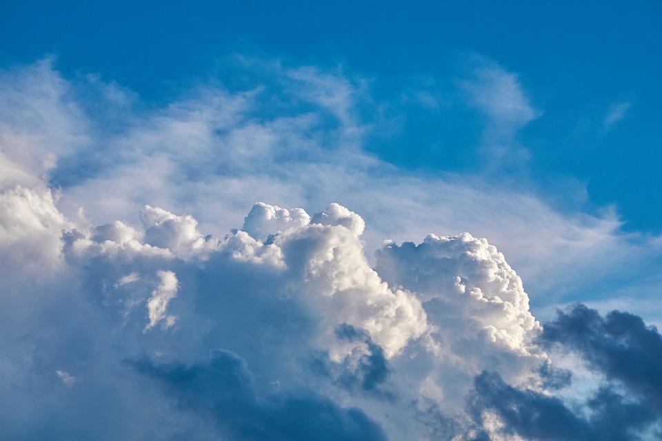 Clouds, Sky, Blue