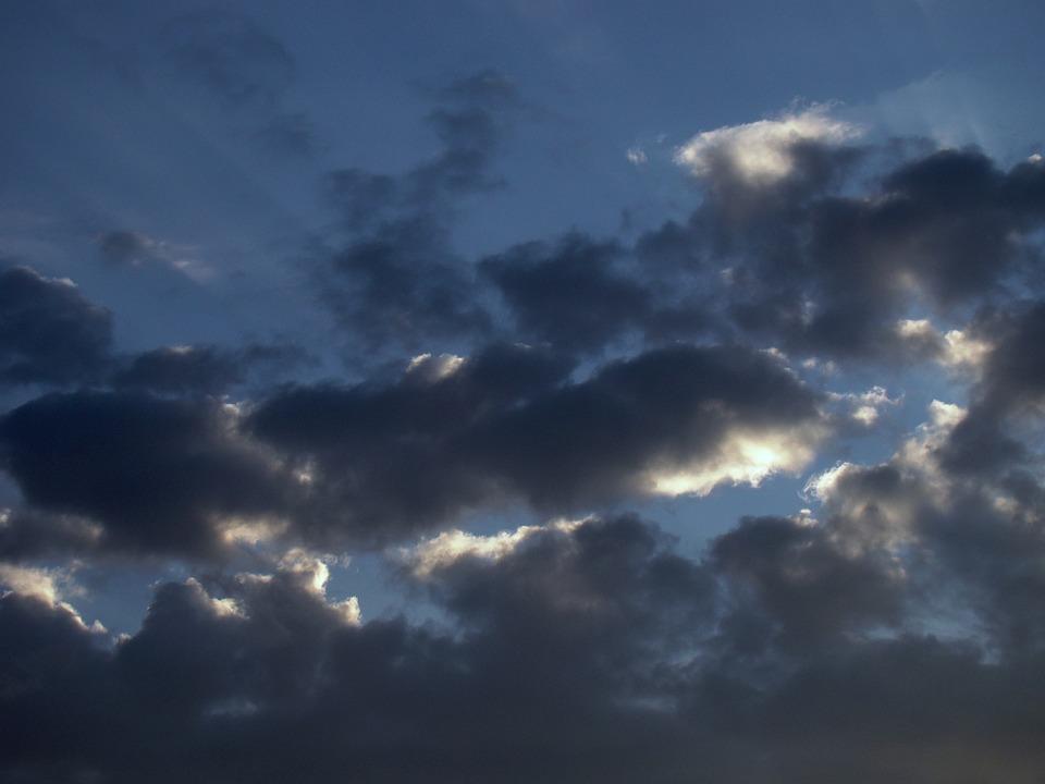 Clouds, Rain, Dark, Sun, Rays, Sky, Overcast