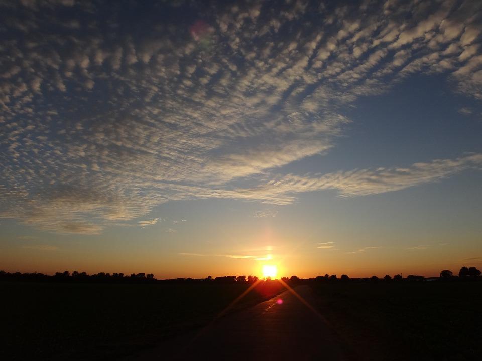Clouds, Evening Sky, Evening, Sunset, Sky, Summer