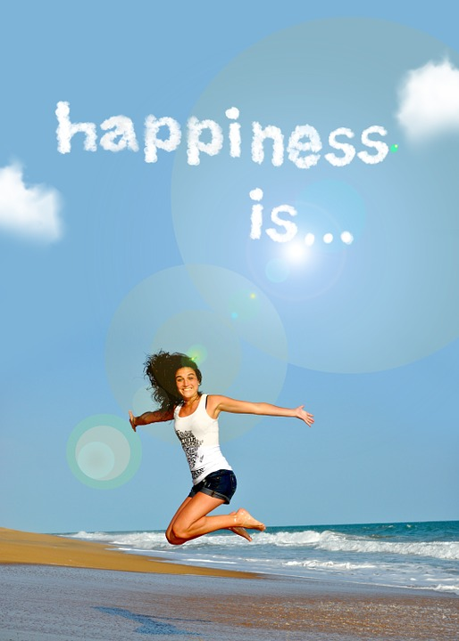 Fitness, Jump, Bless You, Font, Sky, Clouds, Sun, Woman