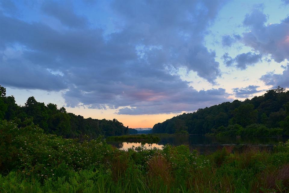 Clouds, Sky, Water, Field, Nature, Landscape, Rural
