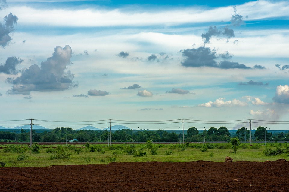 Field, Sky, Nature, Green, Meadow, Hill, Clouds