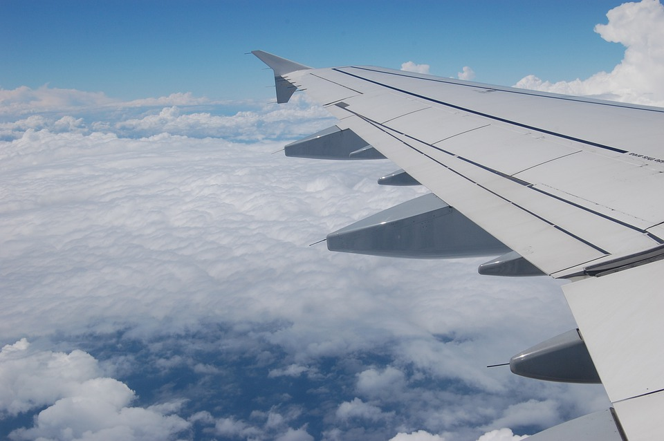 Fly, Airplane, Jet, Sky, Clouds, Outdoors, Scenic