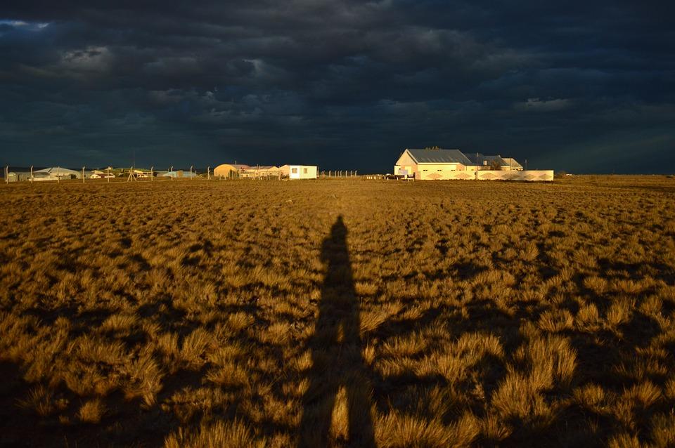 Landscape, Sunset, Storm, Clouds, Shadow, Sky, Nature