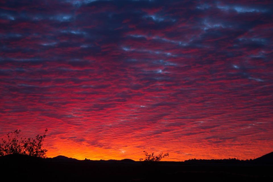 Sunset, Sky, Outdoor, Evening, Clouds