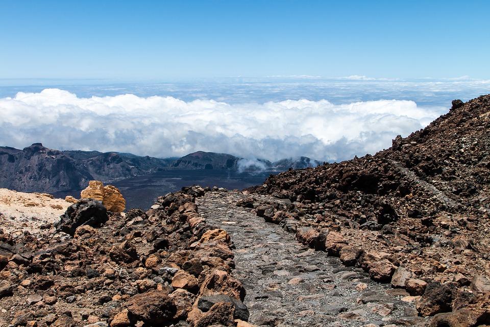 Tenerife, Teide, Clouds, Sky
