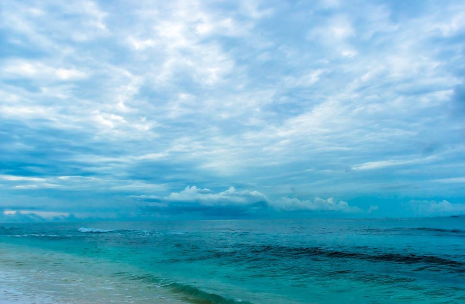 Sea, Nature, Sky, Waves, Water, Horizon, Clouds, Ocean