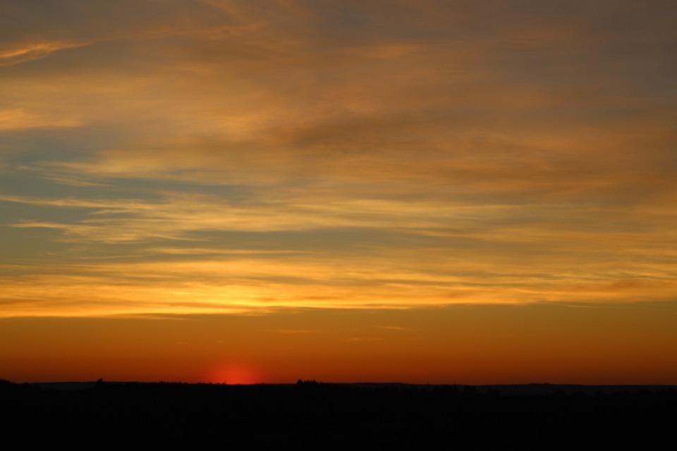 Sun, Sunset, Sky, Landscape, Colorful, Yellow, Orange