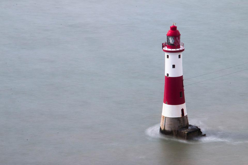 Lighthouse, Water, Coast, Colour, Smooth, Sea, Sky