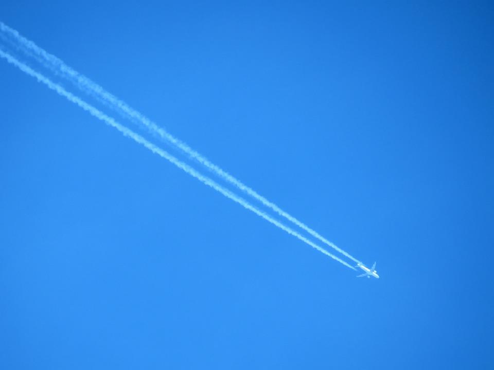 Aircraft, Contrail, Sky