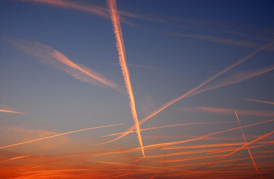 Sky, Color, Contrail