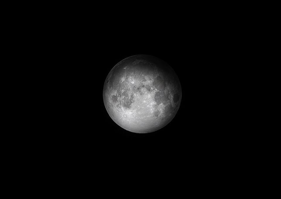 Dark, Full Moon, Luna, Moon, Night, Sky