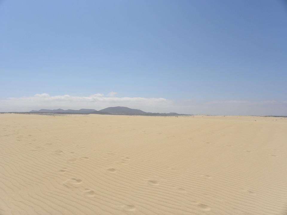 Desert, Sand, Dunes, Landscape, Sky, Nature, Travel