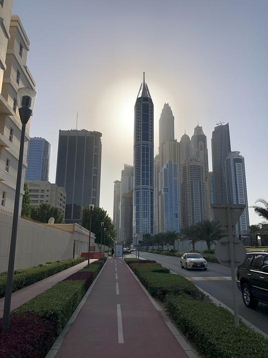 Dubai, View, City, Building, Sky, Skyline, Skyscraper