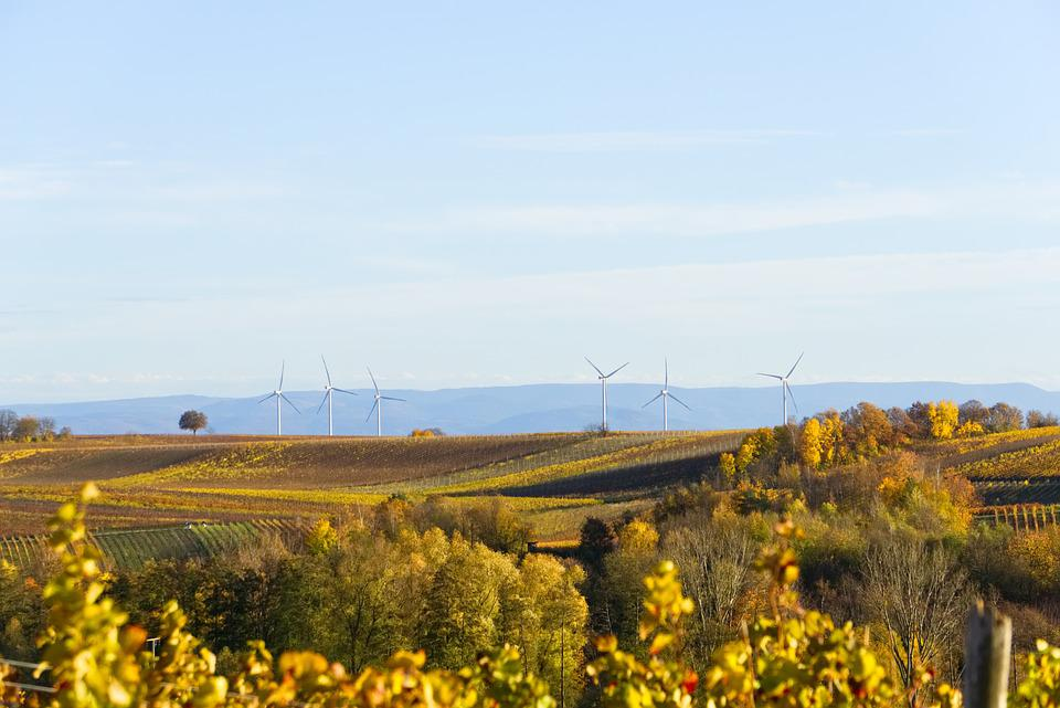Windräder, Energy, Wind Power, Autumn Colours, Sky