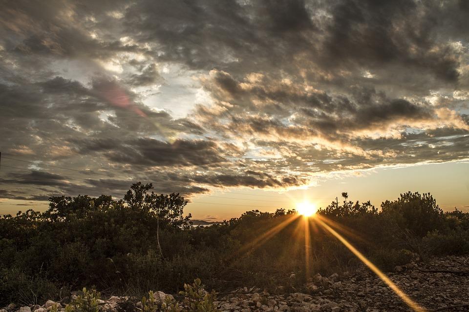 Sunset, Clouds, Sky, Landscape, Evening, Mood, Sun