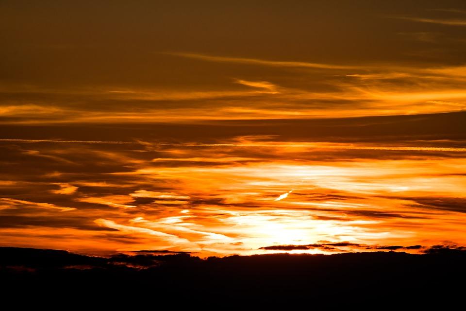 Setting Sun, Sunset, Evening Sky, Abendstimmung, Sky