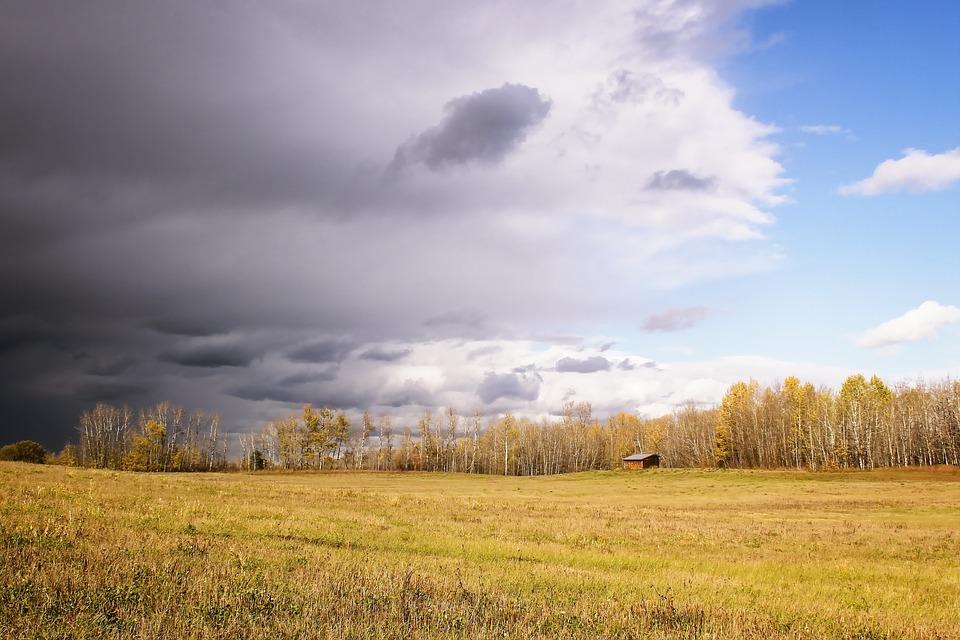 Storm, Field, Sky, Nature, Landscape, Weather, Cloud
