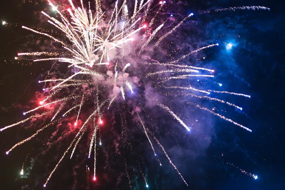 Fireworks, Sparkle, Sky, Glow, Explode, Shimmer